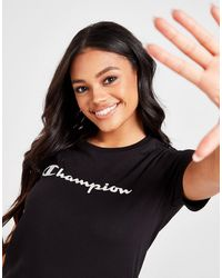 Champion Script Logo Boyfriend T-shirt - Black