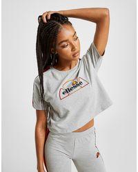 Camiseta Tape Crop Rainbow Mujer Gris 35R4LAqcj