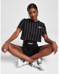 Fila Stripe Crop T-shirt - Black
