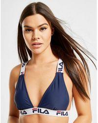 Fila Tape Logo Bikini Top - Blue