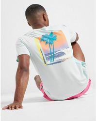 Quiksilver Back Palm T-shirt - Blue