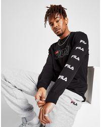Fila Ansen Long Sleeve T-shirt - Black