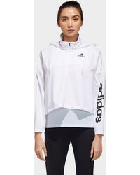 adidas Activated Tech Windbreaker - White