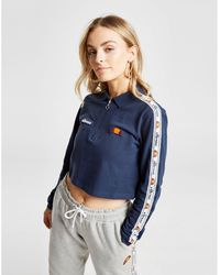 Ellesse - Tape Long Sleeve Crop Polo Shirt - Lyst