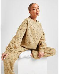 Nike Fleece Printed Crew Sweatshirt - Natural