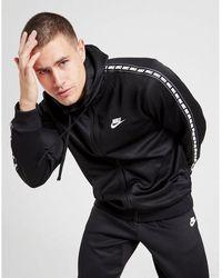 Nike Tape Poly Full Zip Hoodie - Black