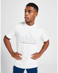 adidas Badge Of Sport Outline Shadow T-shirt - White