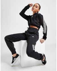 adidas 3-stripes Fleece Sweatpants - Black