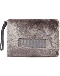 PUMA - Fur Clutch Bag - Lyst