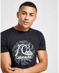 Quiksilver Spiral Front Print T-shirt - Black