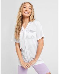 Fila Mesh Baseball T-shirt - White