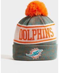 KTZ Nfl Miami Dolphins Pom Beanie Hat - Orange