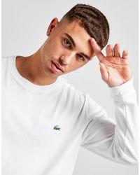 Lacoste Croc Long Sleeve T-shirt - White