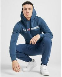 The North Face Overhead Central Logo Bondi Hoodie - Blue