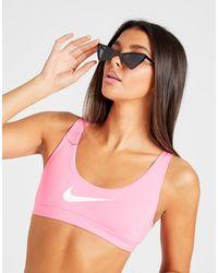 Nike Swoosh Bikini Bralette Top - Pink