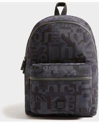 BOSS by Hugo Boss Pixel Camo Backpack - Black