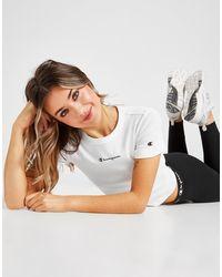 Champion Small Logo Slim Crop T-shirt - White