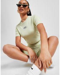 Nike Double Futura Slim Crop T-shirt - Green