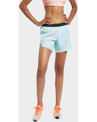 Reebok Run Essentials Allover Print Shorts - Blue