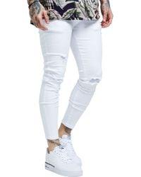 SIKSILK - Ripped Denim Jeans - Lyst