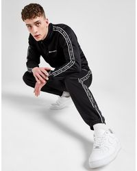 Champion Poly Tape Tracksuit - Black
