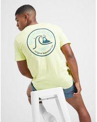Quiksilver Circle Wave T-shirt - Yellow