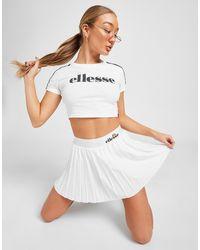 Ellesse Pleat Tennis Skirt - White