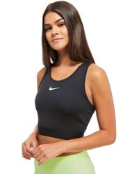 Nike Pro Hypercool Crop Tank Top - Black