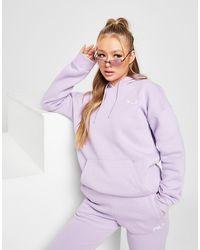 Fila Core Logo Boyfriend Hoodie - Purple