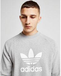 adidas - Trefoil Warm-up Crew Sweatshirt - Lyst