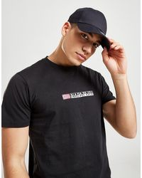 Napapijri Core Central Logo T-shirt - Black