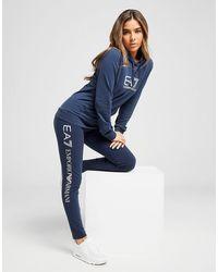 EA7 Logo Leggings - Blu