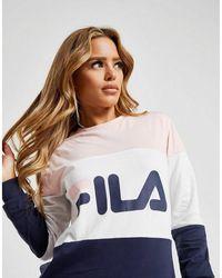 Fila - Colour Block Long Sleeve Boyfriend T-shirt - Lyst