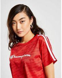 Champion Logo Mesh Crop T-shirt - Red