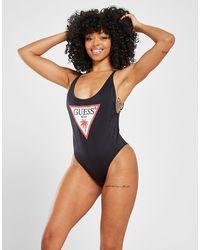 Guess Triangle Logo Costume da bagno Donna - Nero