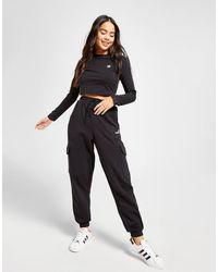 adidas Originals Linear Fleece Cargo Joggers - Black