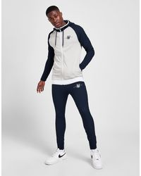 SIKSILK Surface Poly Track Trousers - Blue