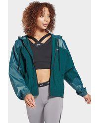 Reebok Shiny Woven Jacket - Green