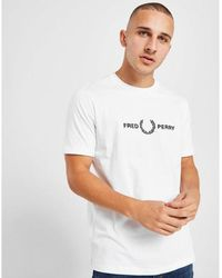 Fred Perry T-shirt With Embroidered Chest Logo - White