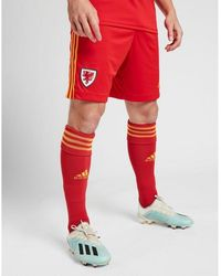 adidas Wales 2020 Home Shorts - Red