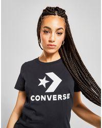 Converse Star Chevron Short Sleeve T-shirt - Black