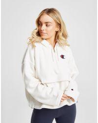 Champion - Polar Fleece 1/4 Zip Hoodie - Lyst