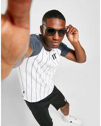 11 Degrees Raglan Stripe T-shirt - White