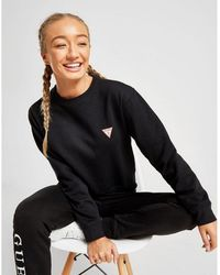 Guess Triangle Crew Sweatshirt - Black