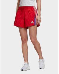 adidas Originals Colorblocked 3-stripes Shorts - Red