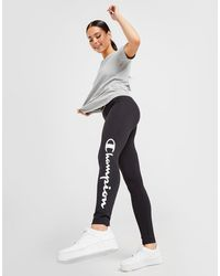 Champion Tape Script Leggings - Black