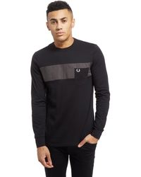 Fred Perry - Textured Oxford Long Sleeve T-shirt - Lyst