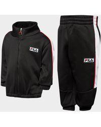 Fila Poly Full Zip Tracksuit Infant - Black