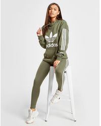 adidas Originals 3-stripes Lock Up Boyfriend Hoodie - Green