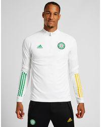 adidas Celtic FC Training 1/4 Zip Top (RESERVA) - Blanco